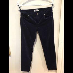 NWOT Vineyard Vines Nautical Navy velvet jeans sz2